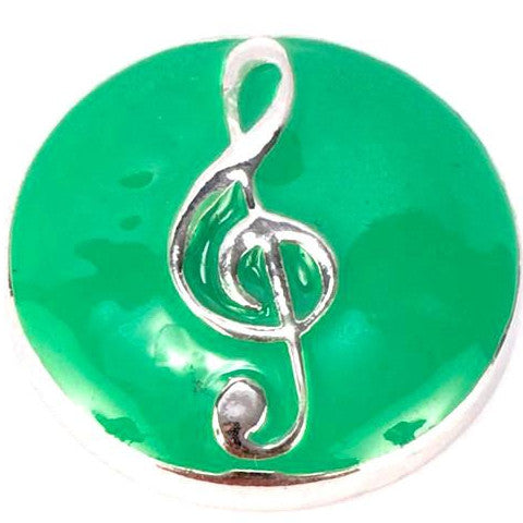 Music Note Green Popper
