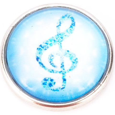 Blue Music Note Popper