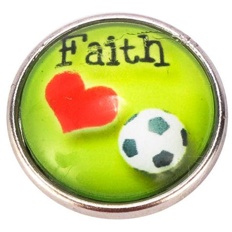 Faith Love Soccer Popper