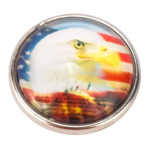 Beautiful Bald Eagle Popper for Snap Jewelry
