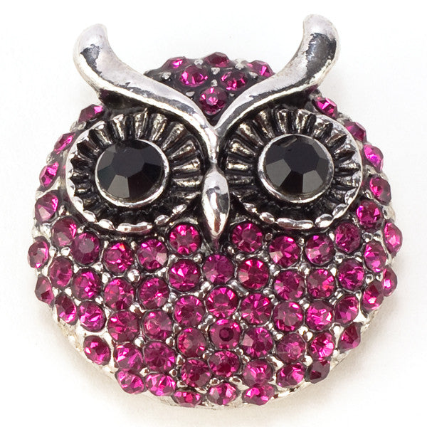 Owl Purple Crystal Snap - Gracie Roze