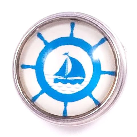 Blue and White Sailing Popper