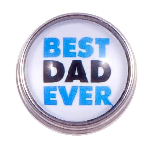 Best Dad Ever Popper for Snap Jewelry