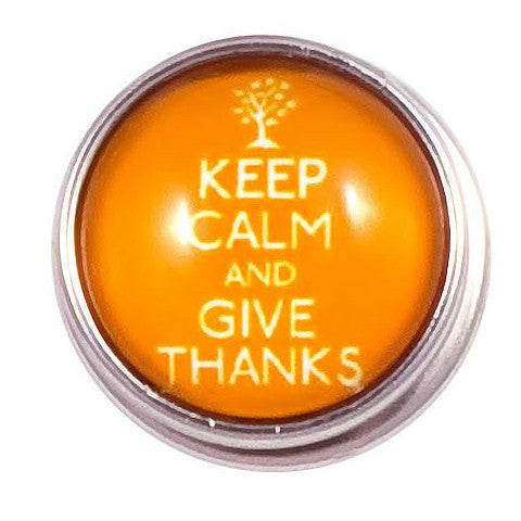Keep Calm Give Thanks Popper