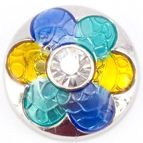 Foil Blue and Yellow Flower Popper