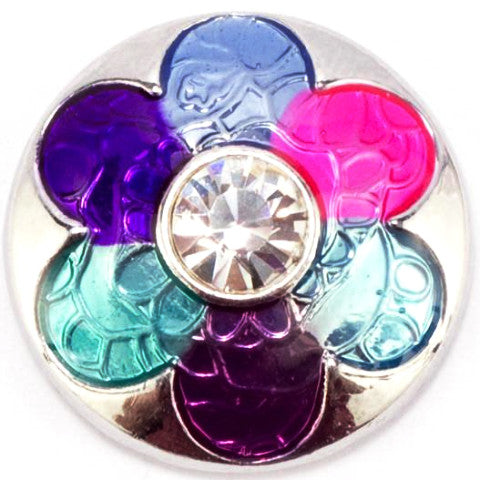 Foil Pink Purple Blue Flower Snap