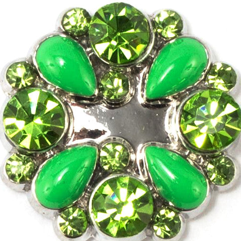 Green Crystal Wreath Snap - Gracie Roze