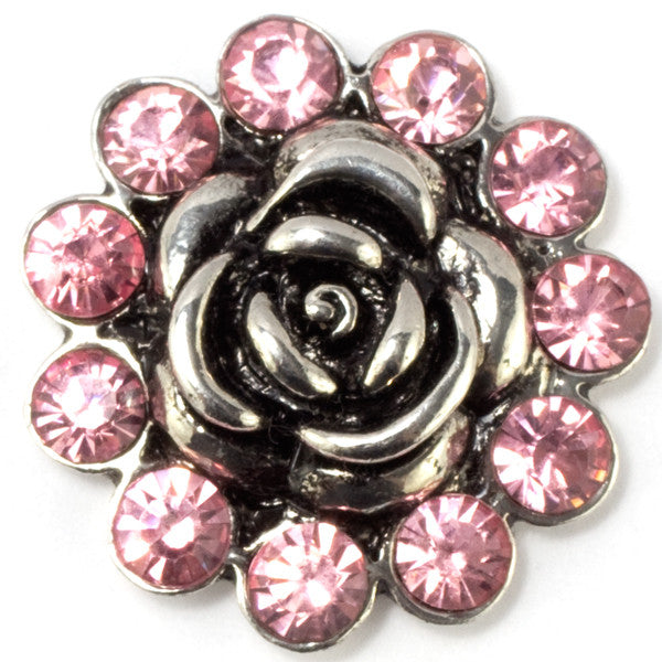 Pink Crystal Rose Snap - Gracie Roze