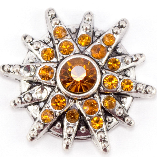 Amber Crystal Starburst Snap - Gracie Roze Yourself Expression Snap Jewelry