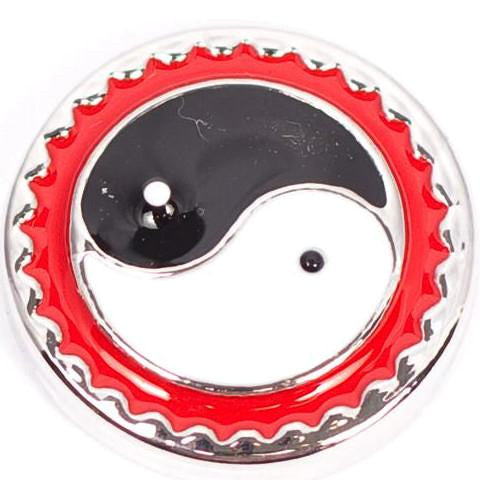Yin Yang Black and Red Snap - Gracie Roze