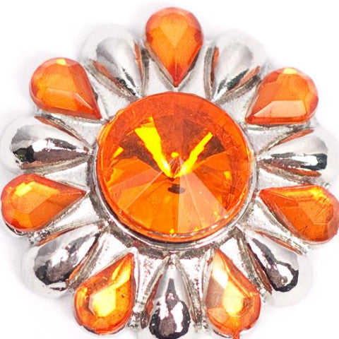 Tangerine Burst Snap - Gracie Roze Yourself Expression Snap Jewelry