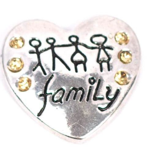 Family Heart Snap - Gracie Roze Yourself Expression Snap Jewelry