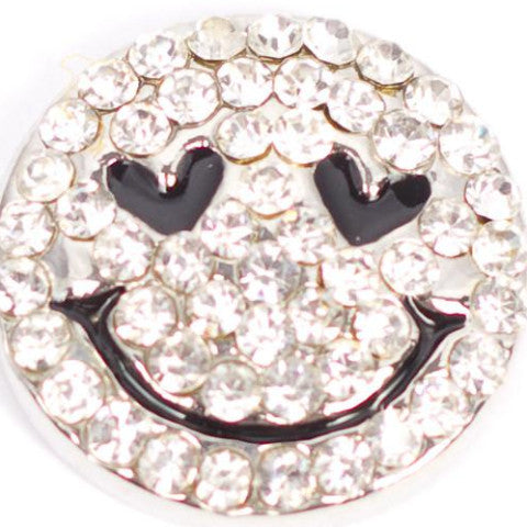 Smiley Crystal Face Snap - Gracie Roze