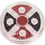Shield Cross Black and Red Popper