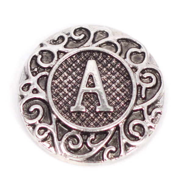 A-M Metal Letter Snaps - Gracie Roze Yourself Expression Snap Jewelry