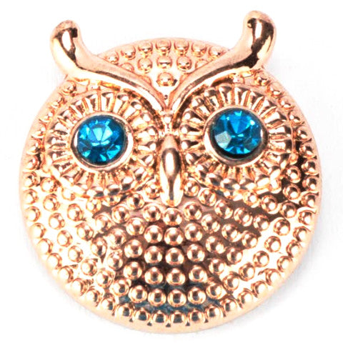 Blue-eyed Golden Owl Snap - Gracie Roze