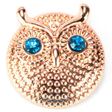 Gold Owl with Crystal Eyes Popper