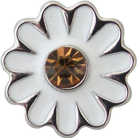 Metal White Daisy Shaped Popper