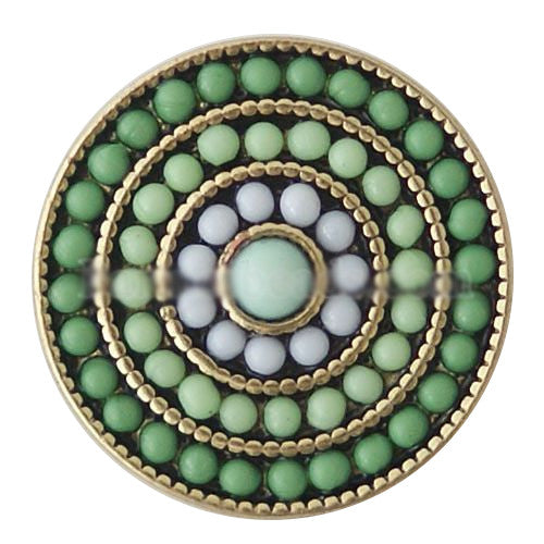 Green Bead Circles Snap