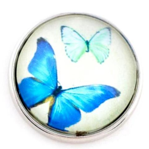 Faded Blue Butterfly Popper