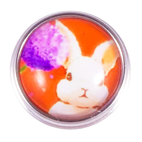 Bright White Bunny Snap - Gracie Roze Yourself Expression Snap Jewelry
