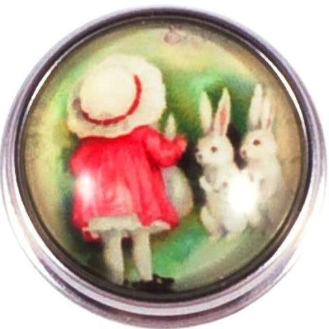 Girl with Bunny Rabbits Popper