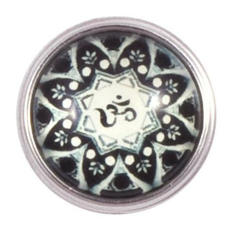 Black and White Ohm  Symbol Popper