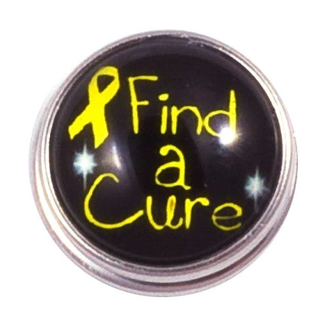 Find a Cure for Kids Cancer Snap - Gracie Roze Yourself Expression Snap Jewelry