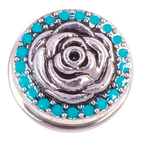 Blue Stone Rose Snap