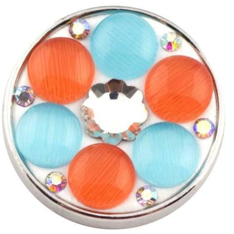 Blue and Orange Dot Popper