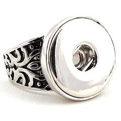 Tribal Design Fitted Snap Ring size 7