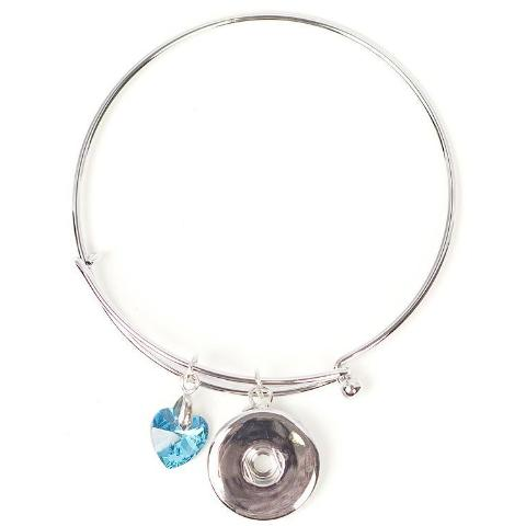 Blue Heart Dangle Bangle