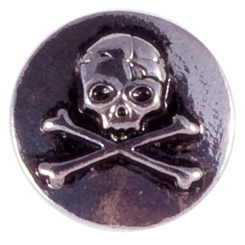 Metal Skull and Crossbones Snap - Gracie Roze