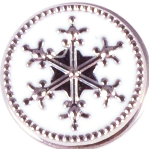 White Metal Snowflake Snap - Gracie Roze