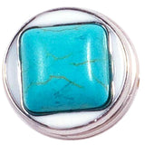 Square Turquoise Stone Popper