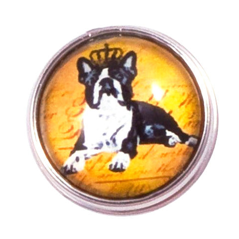 Boston Terrier Snap - Gracie Roze Yourself Expression Snap Jewelry