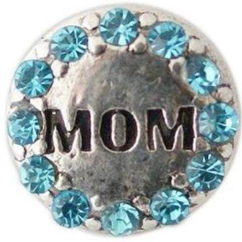 Blue Crystal Mom Mini Snap - Gracie Roze Yourself Expression Snap Jewelry