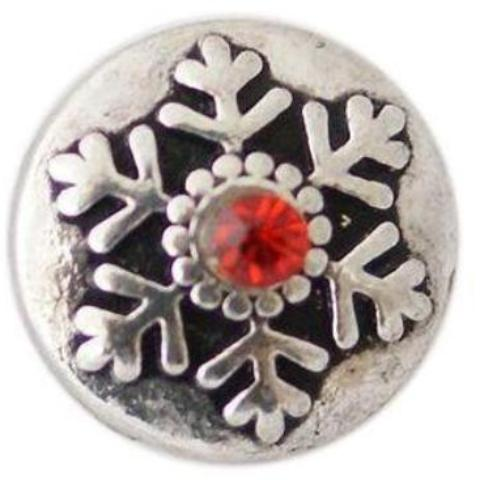 Red Crystal Snowflake Mini Snap - Gracie Roze