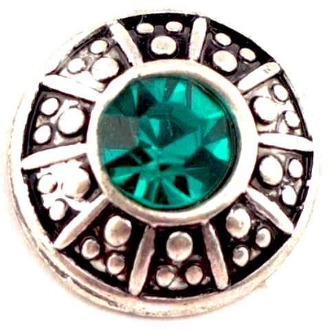 Emerald Shield Mini Snap - Gracie Roze Yourself Expression Snap Jewelry