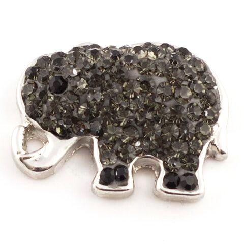 Dark Grey Crystal Elephant Snap