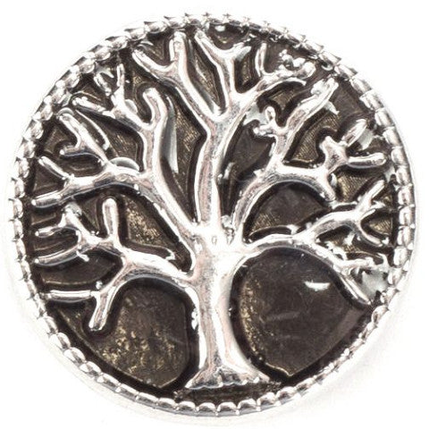 Black Family Tree Snap - Gracie Roze Yourself Expression Snap Jewelry
