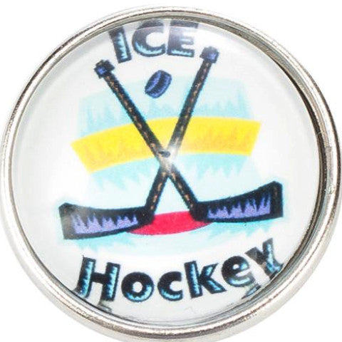 Ice Hockey Snap - Gracie Roze Yourself Expression Snap Jewelry