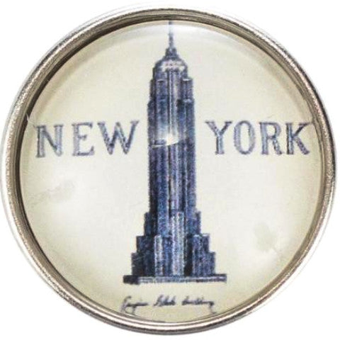 New York Skyscraper Snap - Gracie Roze Yourself Expression Snap Jewelry