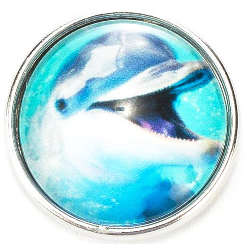 Smiling Dolphin Snap - Gracie Roze Yourself Expression Snap Jewelry