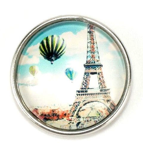 Paris Hot Air Balloon Snap - Gracie Roze Yourself Expression Snap Jewelry