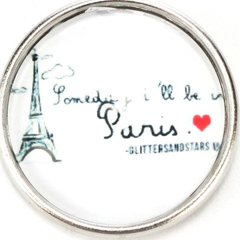 Someday I'll Be in Paris Snap - Gracie Roze Yourself Expression Snap Jewelry