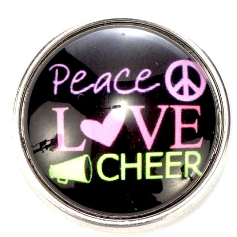 Peace Love Cheer Snap - Gracie Roze Yourself Expression Snap Jewelry