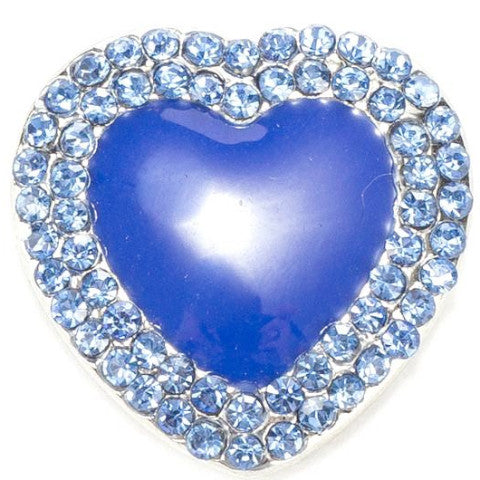 Blue Acrylic Heart Snap