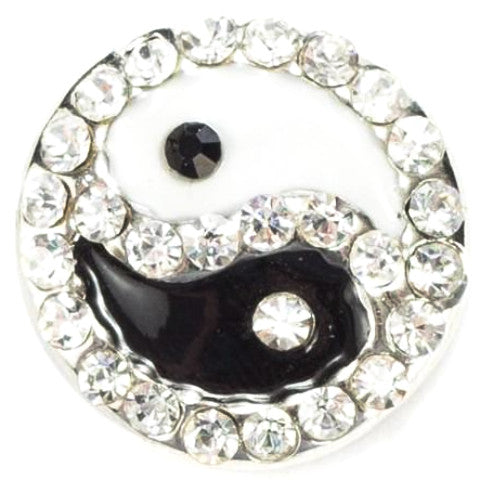 Ying Yang Crystal Black and White Popper