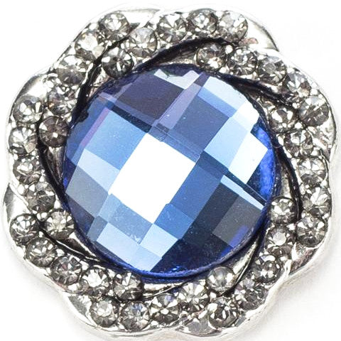 Blue Crystal Nest Snap - Gracie Roze Yourself Expression Snap Jewelry